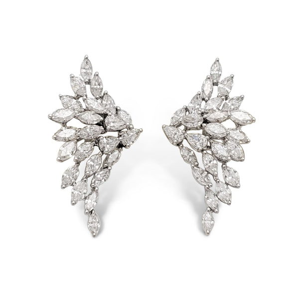 Messika Swan White Gold and Diamond Earrings