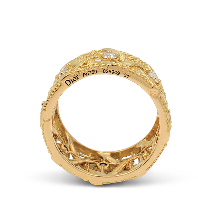 Dior 'My Dior Jewel' Yellow Gold and Diamond Ring