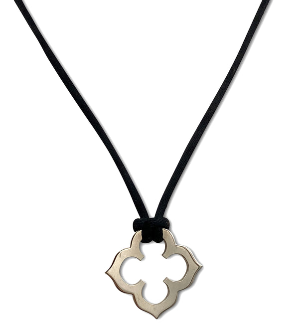 Cartier White Gold Quatrefoil Pendant Necklace