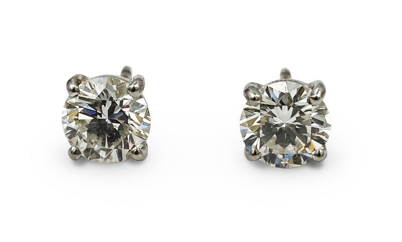 Graff Platinum 2.01 Carat Total Weight Diamond Stud Earrings