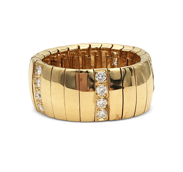 Chaumet Gold and Diamond Flexible Ring