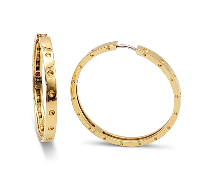 Roberto Coin Symphony Pois Moi Gold Hoop Earrings