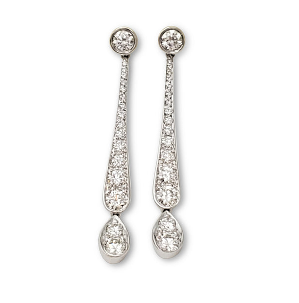 Tiffany & Co. Legacy Platinum and Diamond Drop Earrings