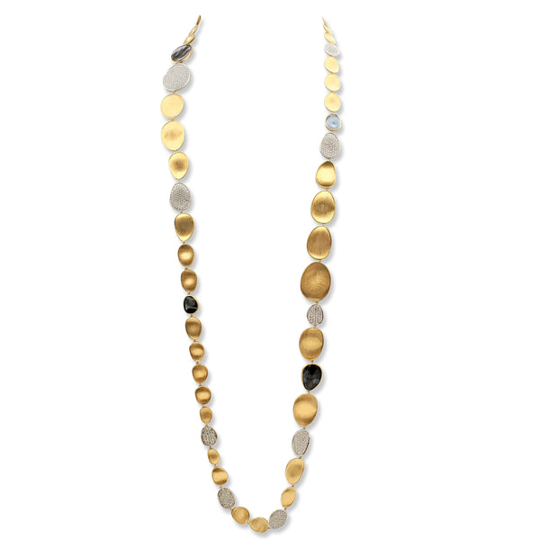 Marco Bicego Lunaria Mother of Pearl and Diamond Sautoir Necklace