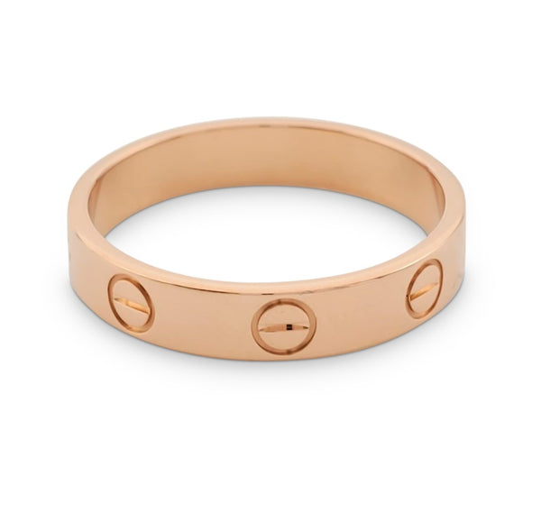 Cartier Love Rose Gold Wedding Band