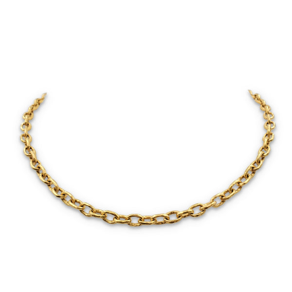 Elizabeth Locke Orvieto Hammered Link Necklace