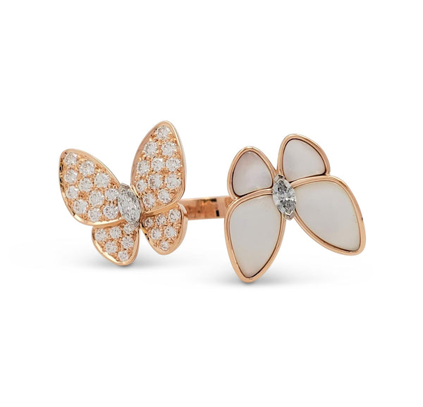 Van Cleef & Arpels Two Butterfly Between-the-Finger Ring