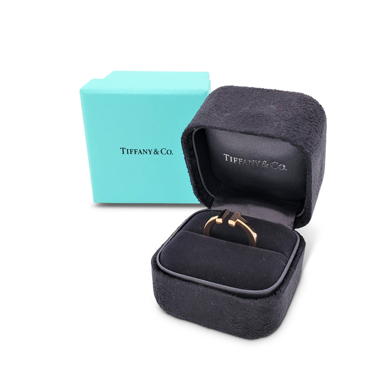 Tiffany & Co. Tiffany T Square Rose Gold Ring