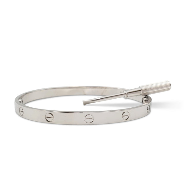 Cartier Love White Gold Bracelet