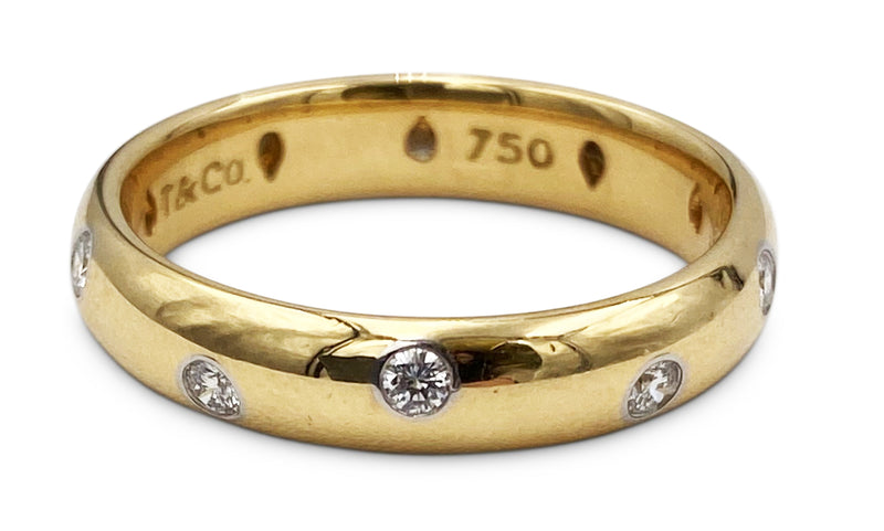 Tiffany & Co. Etoile Gold Diamond Band