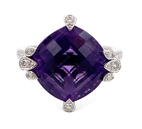 Cartier Amethyst Diamond Lotus Ring