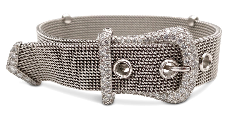 Tiffany & Co. Platinum Diamond Buckle Bracelet