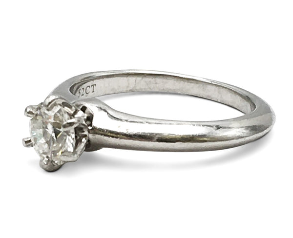 Tiffany & Co. Solitaire 0.52 Carat Diamond Engagement Ring