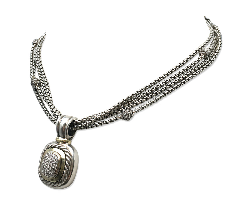 David Yurman Albion Diamond Pendant Necklace