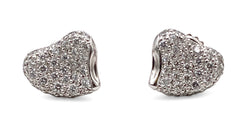 Elsa Peretti for Tiffany & Co. Platinum Diamond Earrings