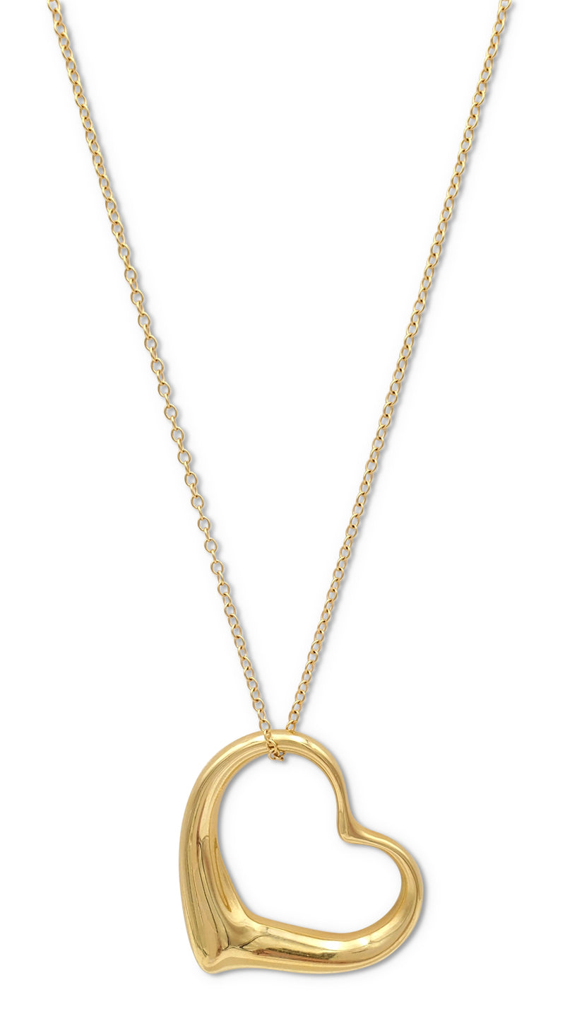 Elsa Peretti for Tiffany & Co. Open Heart Gold Pendant Necklace
