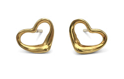 Elsa Peretti for Tiffany & Co. Open Heart Gold Earrings