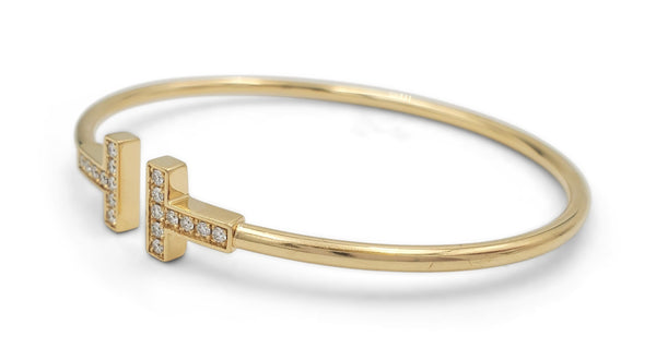 Tiffany & Co. T Square Yellow Gold Diamond Bracelet