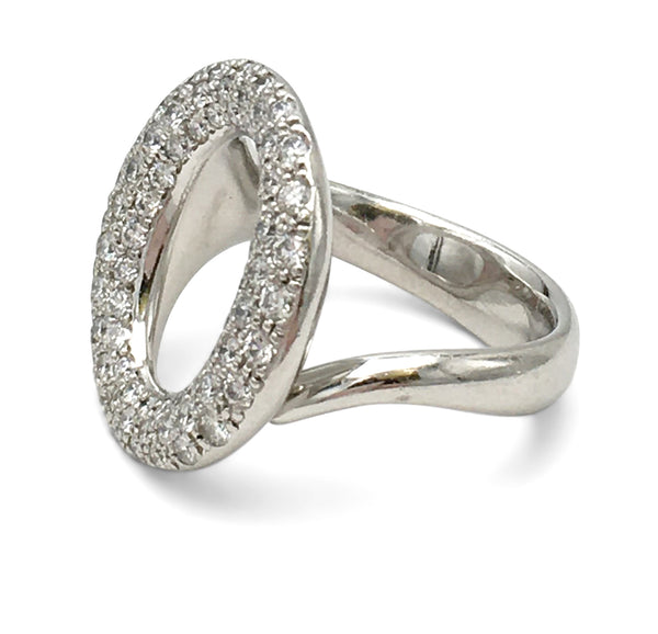 Elsa Peretti for Tiffany & Co. Sevillana Platinum Diamond Pave Ring