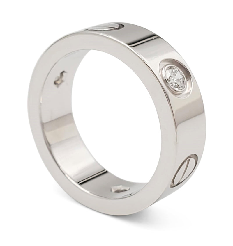 Cartier Love White Gold Diamond Ring
