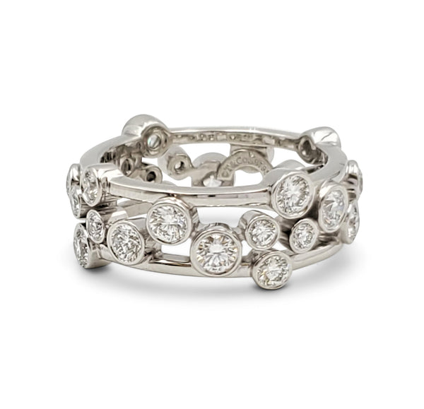 Tiffany & Co. Bubbles Platinum Diamond Ring