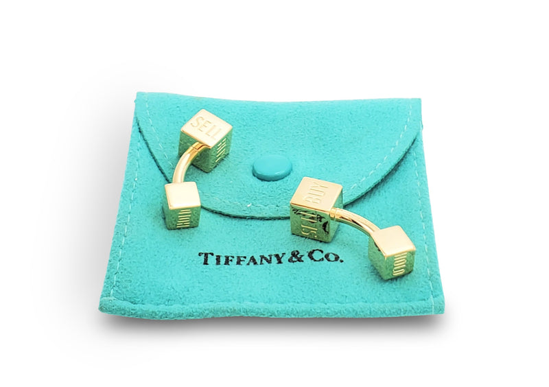 Tiffany & Co. Yellow Gold Buy, Sell or Hold Cufflinks