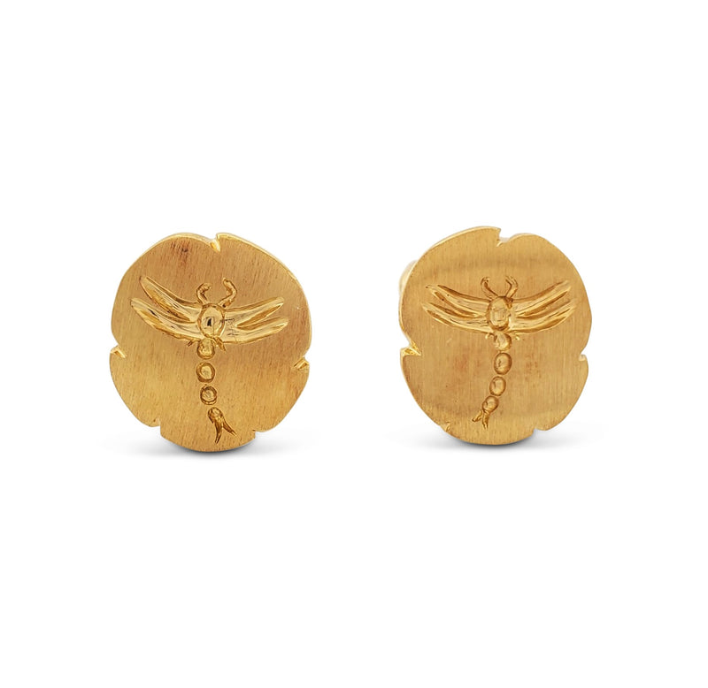 Vintage Tiffany & Co. Yellow Gold Dragonfly Earrings