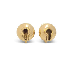 Vintage Marina B. Campanelle Yellow Gold Earrings