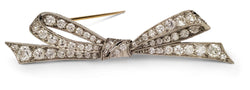 Art Deco Tiffany & Co. Platinum and Diamond Bow Brooch