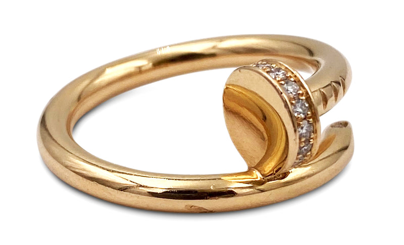 Cartier Juste un Clou Rose Gold Diamond Ring