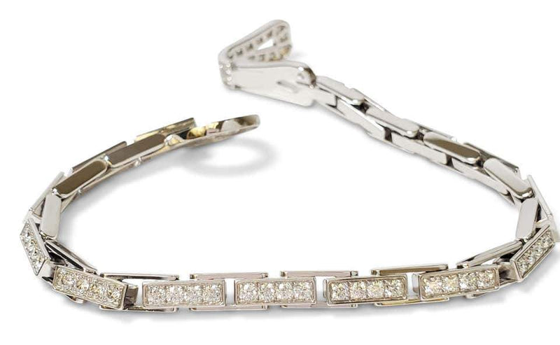Cartier Agrafe Gold and Diamond Bracelet