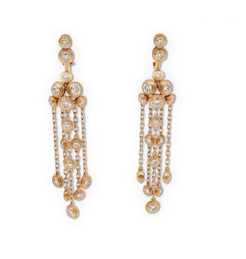 Cartier Diamants Légers Yellow Gold and Diamond Earrings