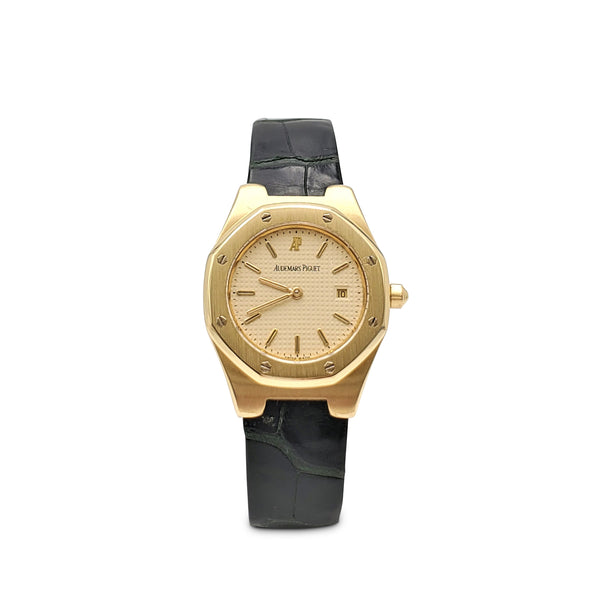Audemars Piguet Royal Oak Yellow Gold Leather Strap Watch