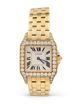 Cartier Santos Demoiselle Gold and Diamond Ladies Watch