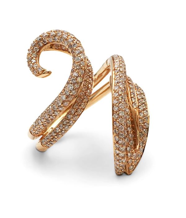Giovanni Ferraris Rose Gold and Diamond Ring