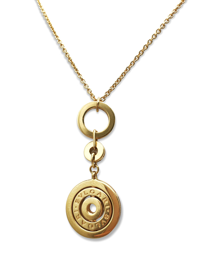 Bulgari Astrale Cerchi Yellow Gold Pendant Necklace