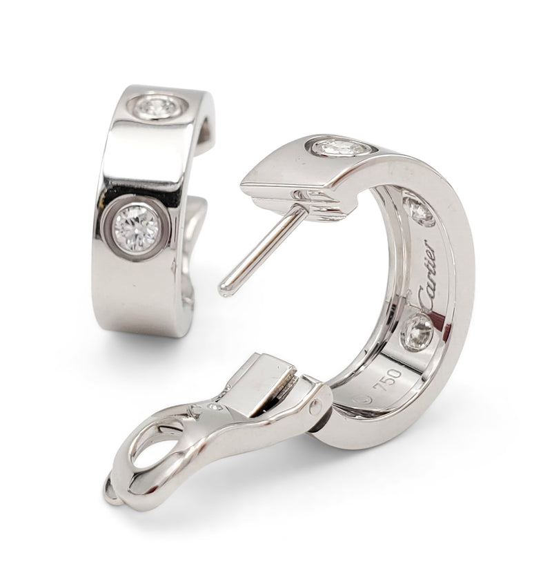 Cartier Love White Gold Diamond Earrings