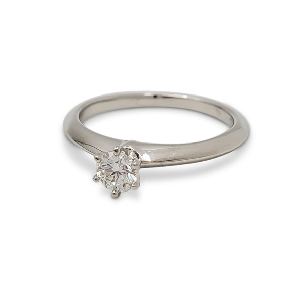 Tiffany & Co. Platinum Diamond Solitare Engagement Ring