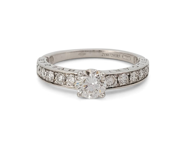 Bulgari 0.50 Carat Dedicata a Venizia Platinum Diamond Engagement Ring