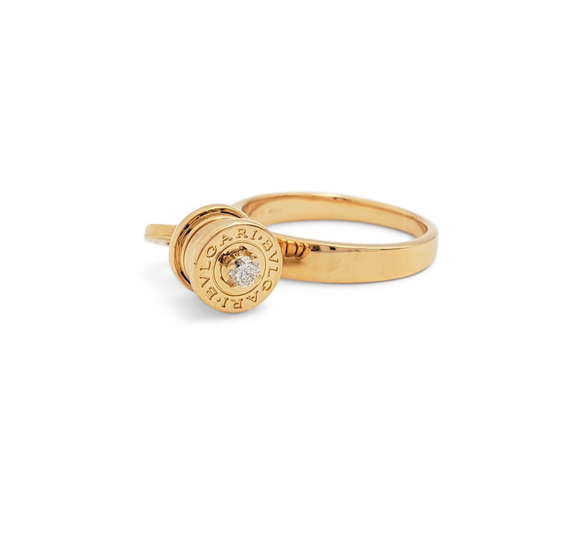 Bulgari B.zero1 Yellow Gold and Diamond Ring