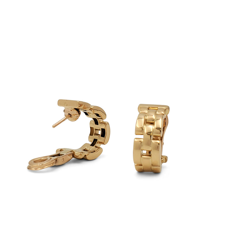 Cartier Maillon Panthère Yellow Gold Earrings