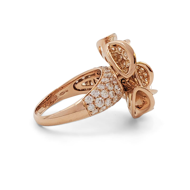 Bvlgari 'Divas' Dream' Rose Gold and Diamond Cocktail Ring