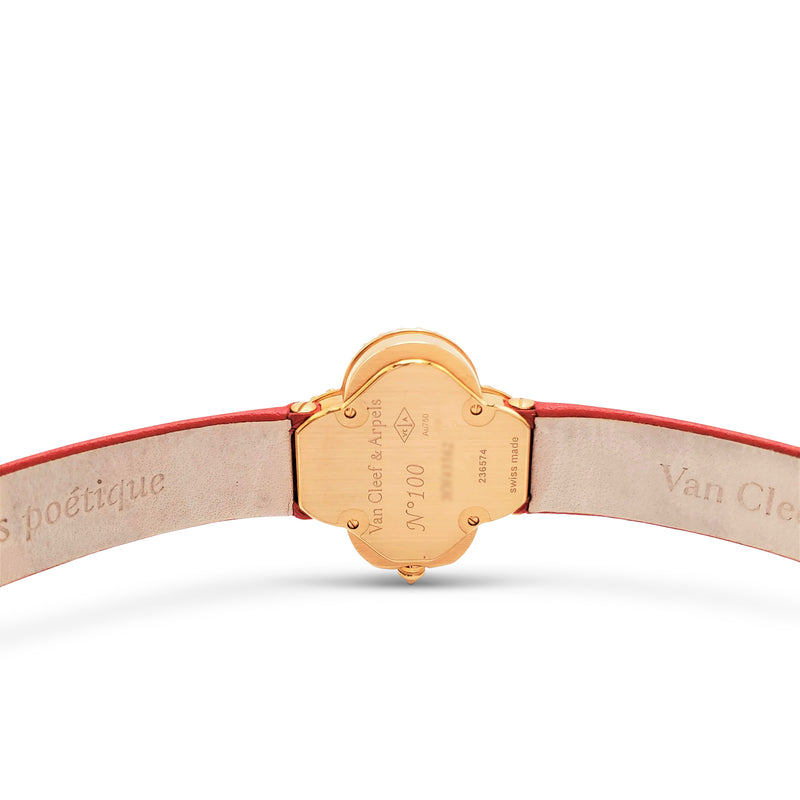 Van Cleef & Arpels Alhambra Carnelian Dial Watch, Small Model