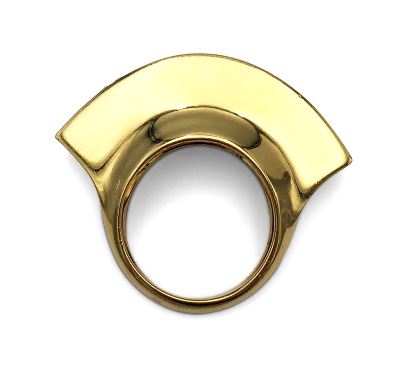 Vintage Paloma Picasso for Tiffany & Co. Gold and Ruby Fan Ring