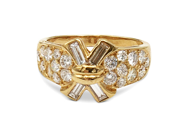 Vintage Mauboussin Gold Diamond Ring