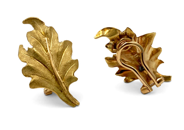 Buccellati Gold Leaf Earrings