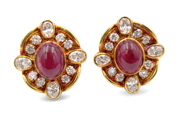 Van Cleef & Arpels Diamond Ruby Earrings