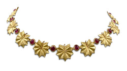 Buccellati 18 Karat Gold and Ruby Leaf Necklace