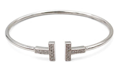 Tiffany & Co. T Square White Gold Diamond Bracelet