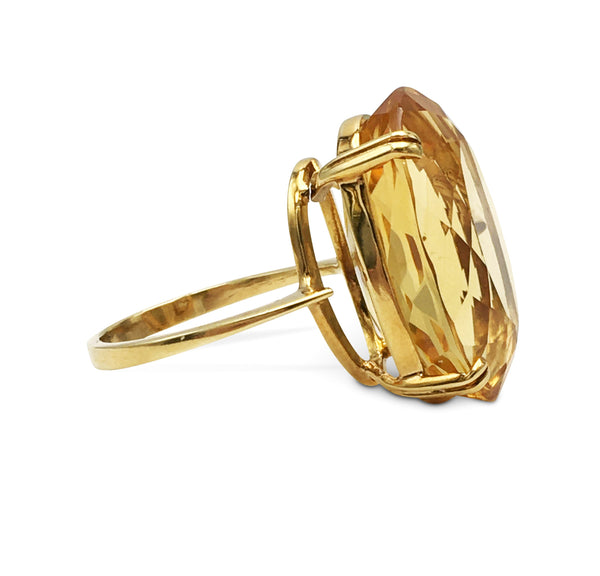 Yellow Gold and Citrine Cocktail Ring